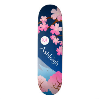 Mt Fuji Cherry Blossoms Spring Japan Night Sakura Skate Boards