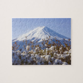 Mt. Fuji covered with snow Jigsaw Puzzle