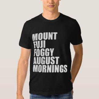 Mt. Fuji Foggy August Mornings Tshirts