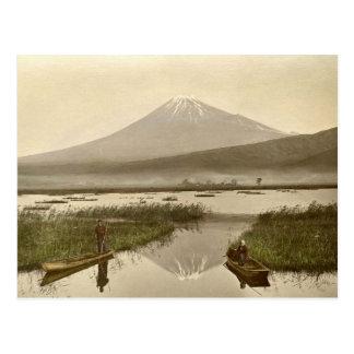 Mt Fuji from Kashiwabara Vintage Photograph Postcard