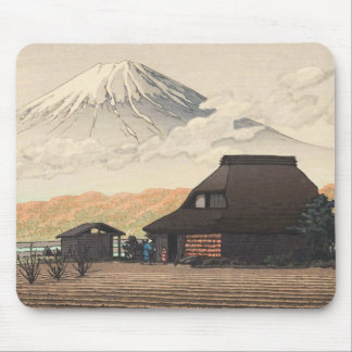 Mt. Fuji from Narusawa Hasui Kawase shin hanga art Mouse Pad