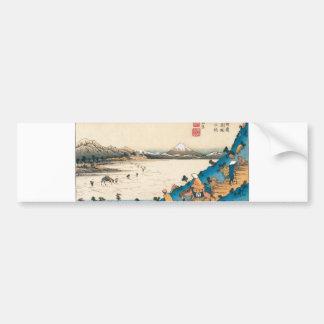 Mt Fuji Fuji-san Japan Circa 1800 s Bumper Sticker