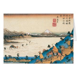 Mt Fuji Fuji-san Japan Circa 1800 s Card