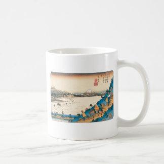 Mt. Fuji, Fuji-san. Japan. Circa 1800's. Basic White Mug