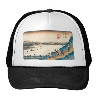 Mt. Fuji, Fuji-san. Japan. Circa 1800's. Mesh Hats