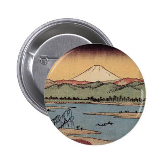 Mt Fuji in Japan circa 1800s Pinback Buttons