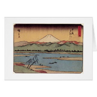Mt. Fuji in Japan circa 1800s Greeting Card