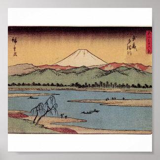 Mt. Fuji in Japan circa 1800s Poster