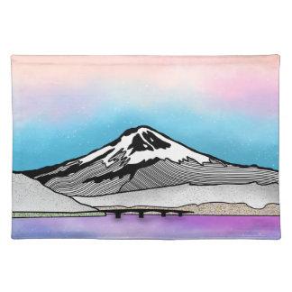 Mt Fuji Japan Landscape illustration Placemat