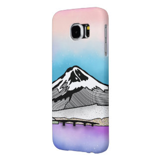 Mt Fuji Japan Landscape illustration Samsung Galaxy S6 Cases
