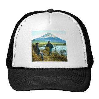 Mt. Fuji Pilgrims Resting by Roadside Vintage Cap
