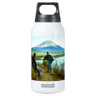 Mt. Fuji Pilgrims Resting by Roadside Vintage Insulated Water Bottle