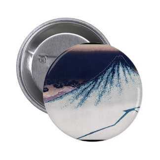 Mt Fuji Poster of Japanese painting c 1830-1832 Pinback Button