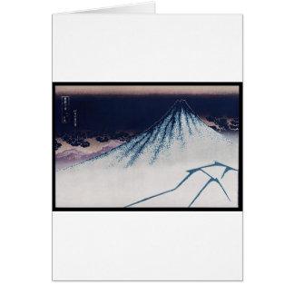 Mt. Fuji, Poster of Japanese painting c. 1830-1832 Greeting Card