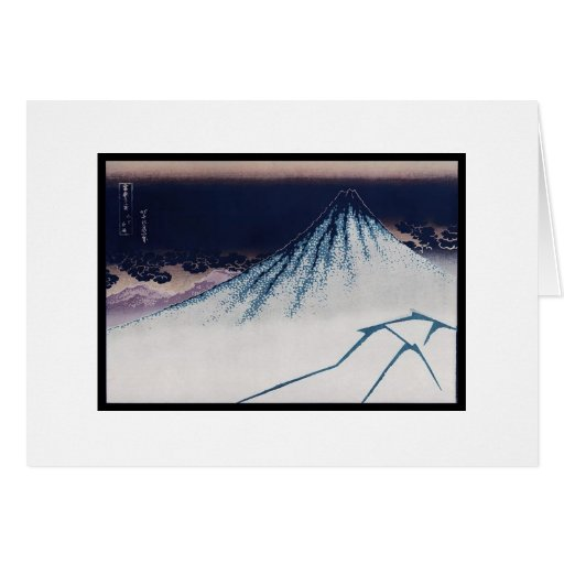 Mt. Fuji, Poster of Japanese painting c. 1830-1832 Greeting Card