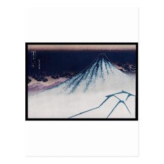 Mt. Fuji, Poster of Japanese painting c. 1830-1832 Postcard