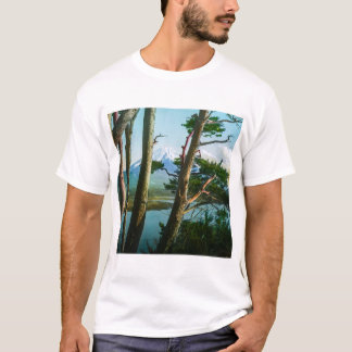 Mt. Fuji Through the Morning Woods Vintage Japan T-Shirt