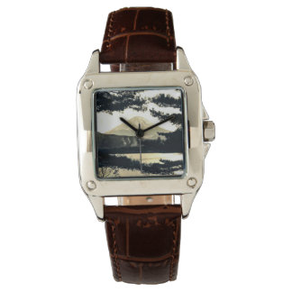 Mt. Fuji Through the Pines Vintage 富士山  Japanese Wrist Watch