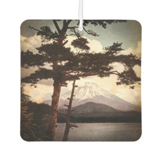 Mt. Fuji Through the Pines Vintage Old Japan