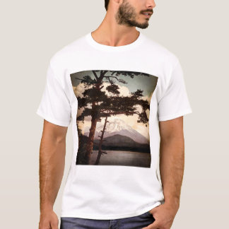 Mt. Fuji Through the Pines Vintage Old Japan T-Shirt