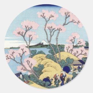 Mt. Fuji view 36+01 Classic Round Sticker