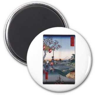 Mt. Fuji Viewed from a Teahouse c. 1800s Japan Refrigerator Magnet