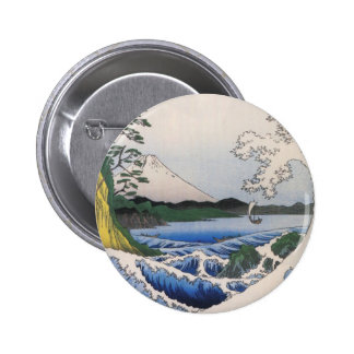 Mt Fuji viewed from water circa 1800 s Pinback Button