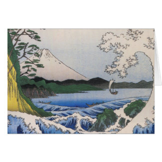 Mt. Fuji viewed from water circa 1800's Card