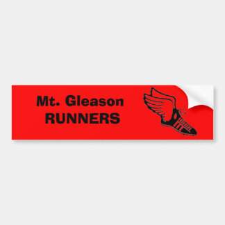 Mt. Gleason RUNNERS Bumper Sticker