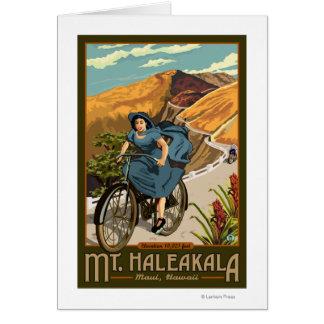 Mt. Haleakala Bicycle Rides Hawaii Card
