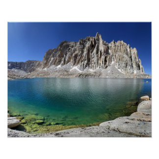 Mt Hitchcock Over Lower Hitchcock Lake 2 - Sierra Poster