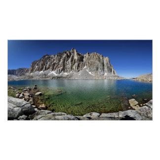 Mt Hitchcock Over Lower Hitchcock Lake - Sierra Poster