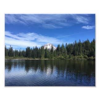 Mt. Hood and Mirror Lake in Oregon Photo Print