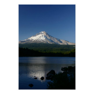 Mt. Hood from Trillium Lake Poster