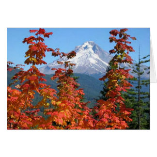 Mt. Hood in Fall Card