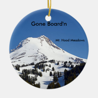 Mt. Hood Meadows Ski Area, Oregon Round Ceramic Decoration