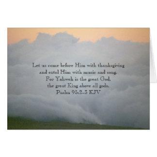 Mt. Hood, Oregon and Psalm 95:2-3 Card