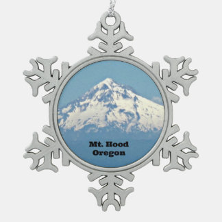 Mt. Hood, Oregon Pewter Snowflake Decoration
