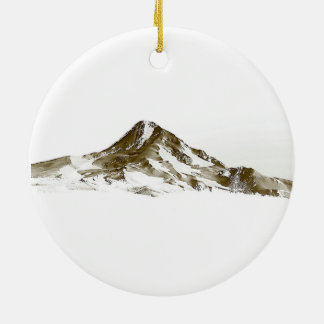 Mt. Hood, Oregon Round Ceramic Decoration