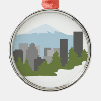 Mt. Hood Silver-Colored Round Decoration