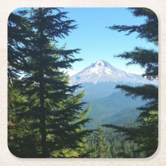 Mt Hood Square Paper Coaster