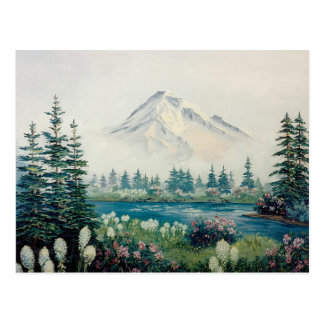 Mt. Hood with Bear Grass Scene from the Pacific NW Postcard