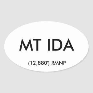 Mt Ida Oval Sticker