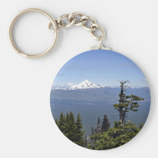 Mt. Jefferson from Black Butte Basic Round Button Key Ring