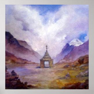 Mt Kailash Stupa Tibet by Lynda Vugler Poster