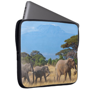 Mt.Kilimanjaro Elephants Laptop Sleeve