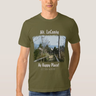 Mt. LeConte My Happy Place!  Great Smoky Mtns Tee Shirts