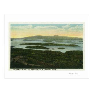 Mt. Major Aerial View of Rattlesnake Island, Postcard