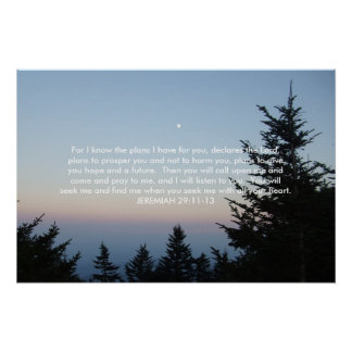 Mt. Mitchell North Carolina - JEREMIAH 29:11-13 Poster