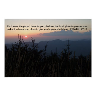 Mt. Mitchell North Carolina - Jeremiah 29:11 Poster